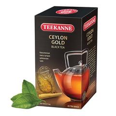 """Чай TEEKANNE (Тикане) """"Ceylon Gold"""", черный, 25 пакетиков по 2 г в конвертах, Германия"""