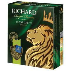 """Чай RICHARD (Ричард) """"Royal Green"""", зеленый, 100 пакетиков по 2 г"""