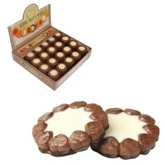 """Печенье БИСКОТТИ (Россия) """"Ноттэ"""", шоколадное с кремом, глазированное, сдобное, 2 кг, шоу-бокс"""
