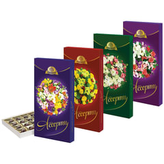 """Конфеты шоколадные АССОРТИ (БАБАЕВСКИЙ) """"Букеты"""",с тремя видами начинок, 300 г, картонная коробка"""