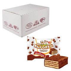 """Конфеты шоколадные РОТ ФРОНТ """"Коровка"""", вафельные с шоколадной начинкой, весовые, 2 кг, гофрокороб"""