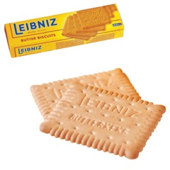 """Печенье BAHLSEN Leibniz (БАЛЬЗЕН Лейбниц) """"Butter biscuit"""", сливочное, 200 г, Германия"""