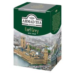 "Чай AHMAD (Ахмад) ""Earl Grey"", черный листовой, с бергамотом, картонная коробка, 200 г"