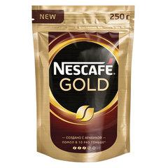 """Кофе молотый в растворимом NESCAFE (Нескафе) """"Gold"""", сублимированный, 250 г, мягкая упаковка"""