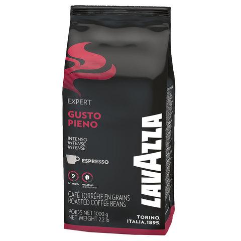 "Кофе в зернах LAVAZZA (Лавацца) ""Gusto Pieno Expert"", натуральный, 1000 г, вакуумная упаковка"