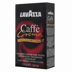 """Кофе молотый LAVAZZA (Лавацца) """"Caffe Crema"""", натуральный, 250 г, вакуумная упаковка"""
