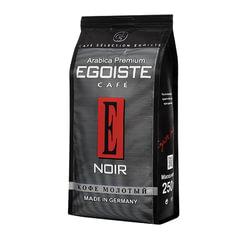 """Кофе молотый EGOISTE """"Noir"""", натуральный, 250 г, 100% арабика, вакуумная упаковка"""