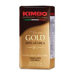 "Кофе молотый KIMBO ""Aroma Gold Arabica"" (Кимбо ""Арома Голд Арабика""), натуральный, 250 г, вакуумная упаковка"