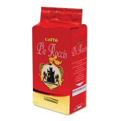 """Кофе молотый DE ROCCIS """"Rossa Cremoso""""(Де Роччис """"Росса Кремосо""""), натуральный, 250 г, вакуумная упаковка"""