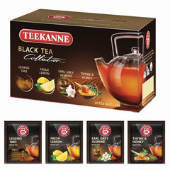 """Чай TEEKANNE (Тикане) """"Black tea collection"""", черный, ассорти 4 вкуса, 20 пакетиков, Германия"""