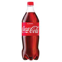Напиток газированный COCA-COLA (Кока-кола), 1 л, пластиковая бутылка