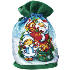 """Подарок новогодний """"С Новым Годом!"""", 800 г, набор конфет и пр., ассорти, тканый мешок"""