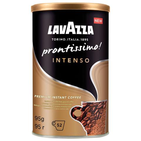"""Кофе молотый в растворимом LAVAZZA (Лавацца) """"Prontissimo Intenso"""", сублимированный, 95 г, жестяная банка"""