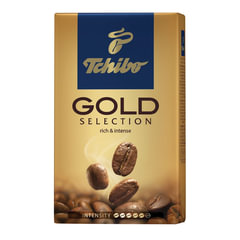 "Кофе молотый TCHIBO (Чибо) ""Gold selection"", натуральный, 250 г, вакуумная упаковка"