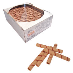 Вафельные трубочки СЕМЕЙКА ОЗБИ, шоколадные, 650 г, гофрокороб