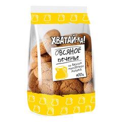 Печенье овсяное ХВАТАЙ-КА со вкусом топленого молока, 400 г