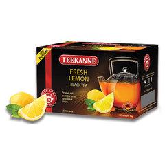 "Чай TEEKANNE (Тиканне) ""Fresh Lemon"", черный, лимон, 20 пакетиков по 2 г, Германия"