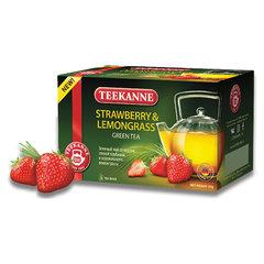 """Чай TEEKANNE (Тиканне) """"Strawberry&Lemongrass"""", зеленый, клубника/лемонграсс, 20 пакетиков по 2 г, Германия"""