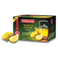 "Чай TEEKANNE (Тиканне) ""Mango&Zitrone"", зеленый, манго/лимон, 20 пакетиков по 2 г, Германия"