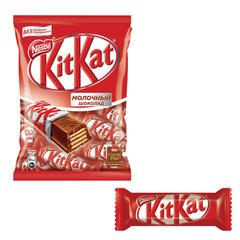 Шоколадные батончики KIT KAT с молочным шоколадом и хрустящей вафлей 169 г
