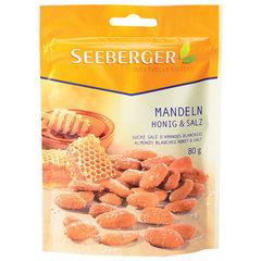 Миндаль SEEBERGER жареный с солью и медом, 80 г, Германия