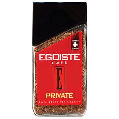 """Кофе растворимый EGOISTE """"Private"""", сублимированный, 100 г, 100% арабика, стеклянная банка"""