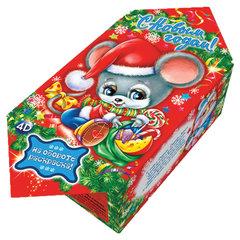 """Подарок новогодний """"Мышонок Пик"""" с раскраской и анимацией, 200 г, НАБОР конфет, картонная упаковка"""