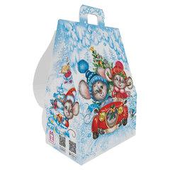 """Подарок новогодний """"Семейка Мышкиных"""" с анимацией, 700 г, НАБОР конфет, картонная упаковка"""