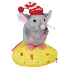 """Подарок новогодний """"Мышка на сыре"""", 400 г, НАБОР конфет, мягкая игрушка"""