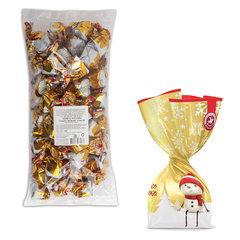 """Конфеты шоколадные БОГАТЫРЬ """"Альпийские Сливки"""" с кремовой начинкой, пакет, 1 кг"""