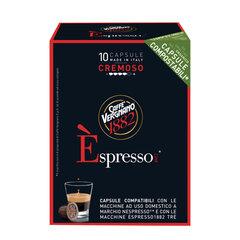 Капсулы для кофемашин NESPRESSO, Cremoso, натуральный кофе, 10 шт. х 5 г, VERGNANO
