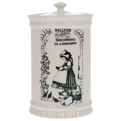 """Чай HILLTOP """"Земляника со сливками"""", черный листовой, 125 г, керамическая чайница"""