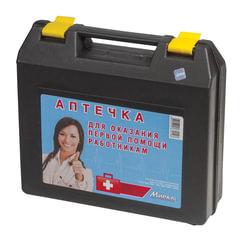 Аптечка первой помощи работникам, до 5 человек, переносной пластиковый футляр, состав - по приказу №169н