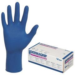 Перчатки латексные смотровые, КОМПЛЕКТ 25 пар (50 шт.), неопудренные, сверхпрочные, S, DERMAGRIP High Risk