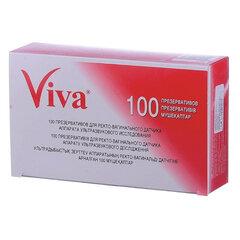 Презервативы для УЗИ VIVA, комплект 100 шт., без накопителя, гладкие, без смазки, 210х28 мм
