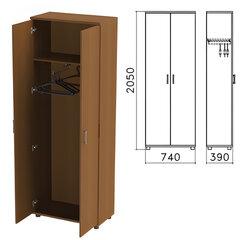 "Шкаф для одежды ""Монолит"", 740х390х2050 мм, цвет орех гварнери, ШМ49.3"
