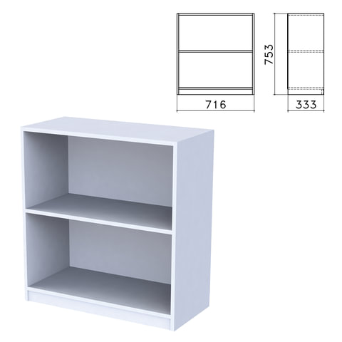 "Шкаф (стеллаж) ""Бюджет"", 716х333х753 мм, 4 полки, серый"
