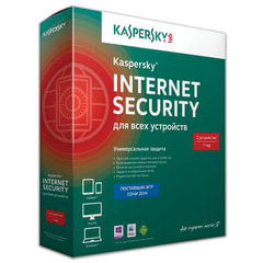 """Антивирус KASPERSKY """"Internet Security"""", лицензия на 2 устройства, 1 год, бокс"""
