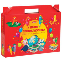 """Набор для первоклассника в подарочной упаковке HATBER """"Красный"""", Нп4 12645"""