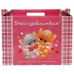 """Набор для первоклассника в подарочной упаковке HATBER """"Пушистики"""", Нп4 00060"""