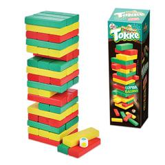 """Игра настольная Башня """"Торре"""", окрашенные деревянные блоки, """"Десятое королевство"""""""