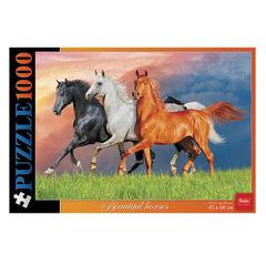 "Пазл STANDARD, 1000 элементов, А2, ""Красивые лошади"", 450х680 мм, 1000ПЗ2 13357"