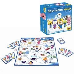 """Игра-ходилка настольная детская """"Пингвинёнок Порро. Прогулка"""", игровое поле, фишки, карточки, ЗВЕЗДА"""