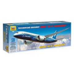 """Модель для склеивания САМОЛЕТ, """"Авиалайнер пассажирский американский Боинг 787-8"""", 1:144, ЗВЕЗДА, 7008"""