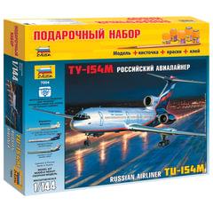 """Модель для склеивания НАБОР САМОЛЕТ, """"Авиалайнер пассажирский Ту-154М"""", масштаб 1:144, ЗВЕЗДА, 7004П"""