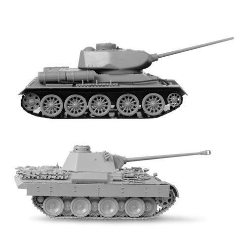 """Модели для сборки ТАНКИ """"Великие противостояния. Т-34 против Пантеры"""", набор 2 шт., 1:72, ЗВЕЗДА, 5202"""