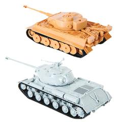 """Модели для сборки ТАНКИ """"Великие противостояния. Тигр против ИС-2"""", набор 2 шт., 1:72, ЗВЕЗДА, 5200"""