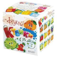 """Кубики-загадки пластиковые """"Овощи и фрукты"""", 8 шт., 4х4х4 см, """"Десятое королевство"""""""