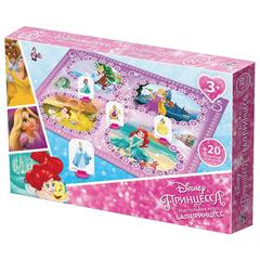 """Игра-ходилка настольная детская """"Бал принцесс"""", игровое поле, фишки, кубик, Disney, """"Десятое королевство"""""""