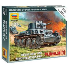 """Модель для сборки ТАНК """"Легкий немецкий LT-38"""", масштаб 1:100, ЗВЕЗДА, 6130"""